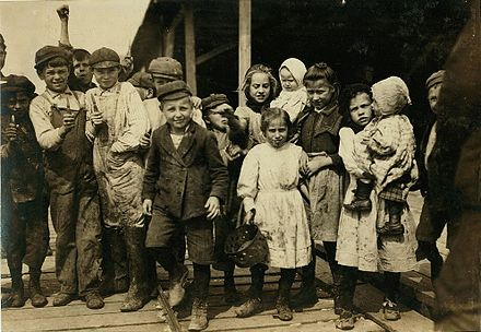 Child workers, Pass Christian, 1911, by Lewis Hine All these children.jpg