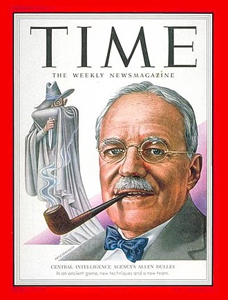Central Intelligence Agency - CIA director Allen Dulles on the cover of Time magazine, 1953