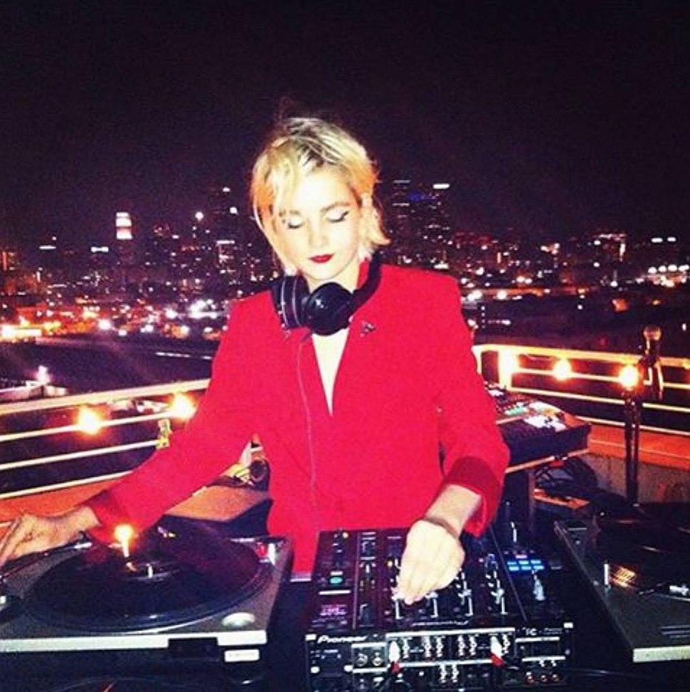 Allie Teilz spinning in Los Angeles