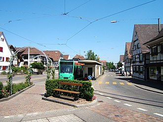 Allschwil - Tram in Allschwil