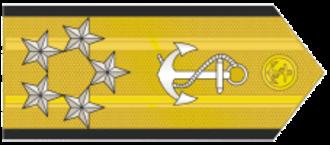 Five-star rank - Image: Almirante MB