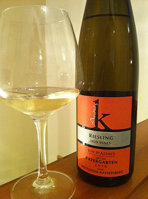 Lieu-dit - An Alsatian Riesling with the name of the lieu-dit it is sourced from on the label.