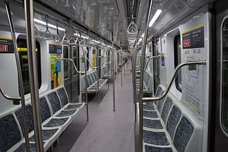 Buenos Aires Underground 300 Series - Interior of one of the cars