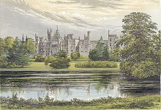 History of Alton Towers - Alton Towers from Morris's Seats of Noblemen and Gentlemen (c.1880)