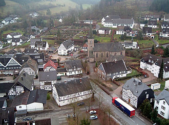 Lennestadt - View over Bilstein from the castle