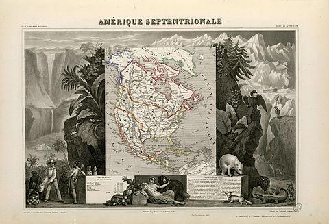 Karte Nordamerikas.Geschichte Nordamerikas Wikipedia