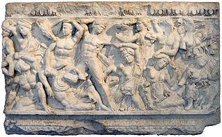 sarcofago con amazzonomachia