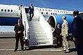 Ambassador Kelly and Djiboutian Foreign Minister Youssouf Prepare to Greet Secretary Kerry at the Djibouti-Ambouli International Airport (17204066370).jpg