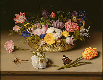 Ambrosius Bosschaert, still-life, 1614 Ambrosius Bosschaert the Elder (Dutch - Flower Still Life - Google Art Project.jpg