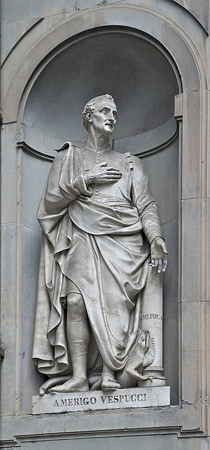 Amerigo Vespucci - Statue outside the Uffizi, Florence