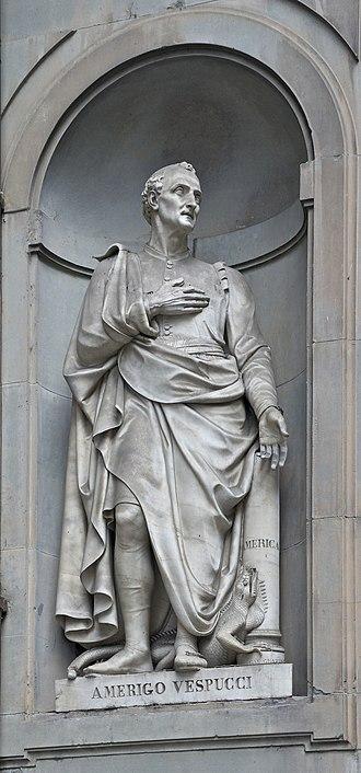 Amerigo Vespucci - Statue outside the Uffizi, Florence