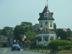 Amityville, New York - The Triangle in downtown Amityville