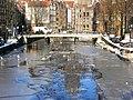 Amsterdam - Oudezijds Voorburgwal - iced canal.JPG