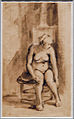 Amsterdam - Rijksmuseum - Late Rembrandt Exposition 2015 - Female Nude Seated in Front of a Stove, Rembrandt Harmensz. van Rijn, 1661 - 1662 A.jpg