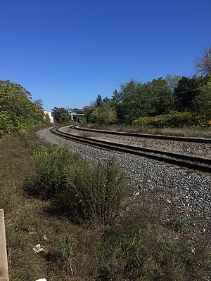 Quaker Square - Site of former Amtrak platform, facing North