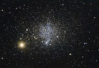 Dwarf galaxy - The Phoenix Dwarf Galaxy is a dwarf irregular galaxy, featuring younger stars in its inner regions and older ones at its outskirts.