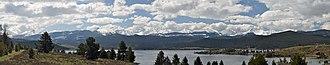 Anaconda Range - Image: Anaconda Range From Georgetown Lake Montana