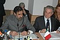Anand Sharma and the Italian Minister for Economic Development, Mr. Claudio Scajola at a joint press conference on the outcome of the Indo-Italian Joint Commission for Economic Cooperation, in New Delhi on December 14, 2009.jpg