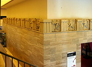 Foce del Sele - The earlier, narrative, metope sections displayed in the Paestum museum