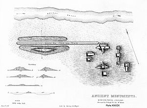 Fitzhugh Mounds - Plate XXXIX Ancient Works in Madison Parish, La