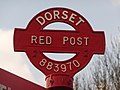 Anderson, detail of Red Post - geograph.org.uk - 1752516.jpg