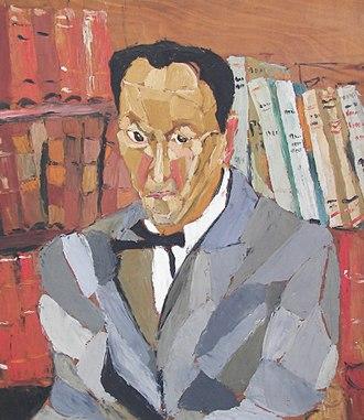 André Salmon - Portrait of Salmon by Josette Bournet, c.1947