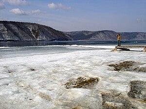 Angara River - Image: Angara Lake Baikal 2