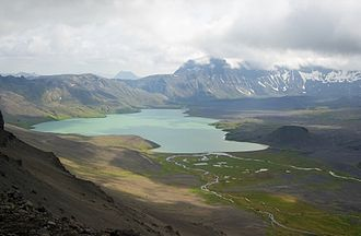 Aniakchak National Monument and Preserve - Image: Ania surprise lake 20060809205205