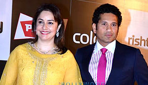 Sachin Tendulkar - Sachin Tendulkar and his wife Anjali