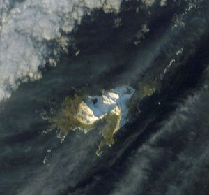Annenkov Island - Satellite image of the island
