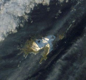Annenkov Island - Satellite image of the island