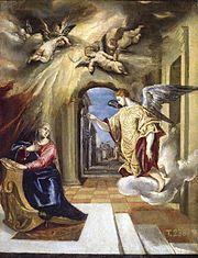 Annunciation by El Greco (1570-1575, Prado)