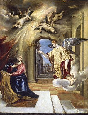 Luke 1 - The Annunciation, by El Greco (completed 1575)
