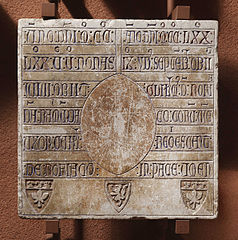 Épitaphe de Raimuda et Guillelmus de Rofiaco