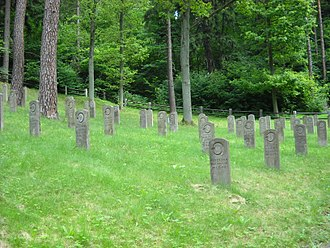 Islam in Lithuania - Graves of Muslim soldiers of Tsarist army, fallen in 1st World War at Lithuanian soil. Antakalnis Cemetery