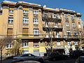 Apartment building with large balcony. - Budapest, 12th district. Lt. Gen. János Kiss Street, 25.JPG