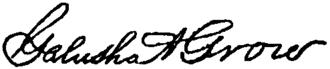 Galusha A. Grow - Image: Appletons' Grow Galusha Aaron signature