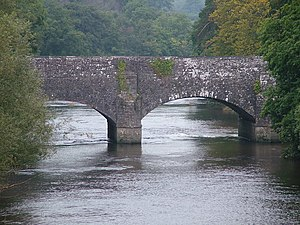 Thomas Dadford Jr. - Dadford's aqueduct at Brynich carries the Brecon and Abergavenny Canal over the River Usk