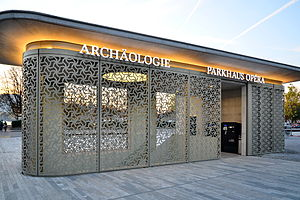 Grosser Hafner - Image: Archäologie im Parkhaus Opéra Pavillion Sechseläutenplatz 2014 10 31 17 05 29