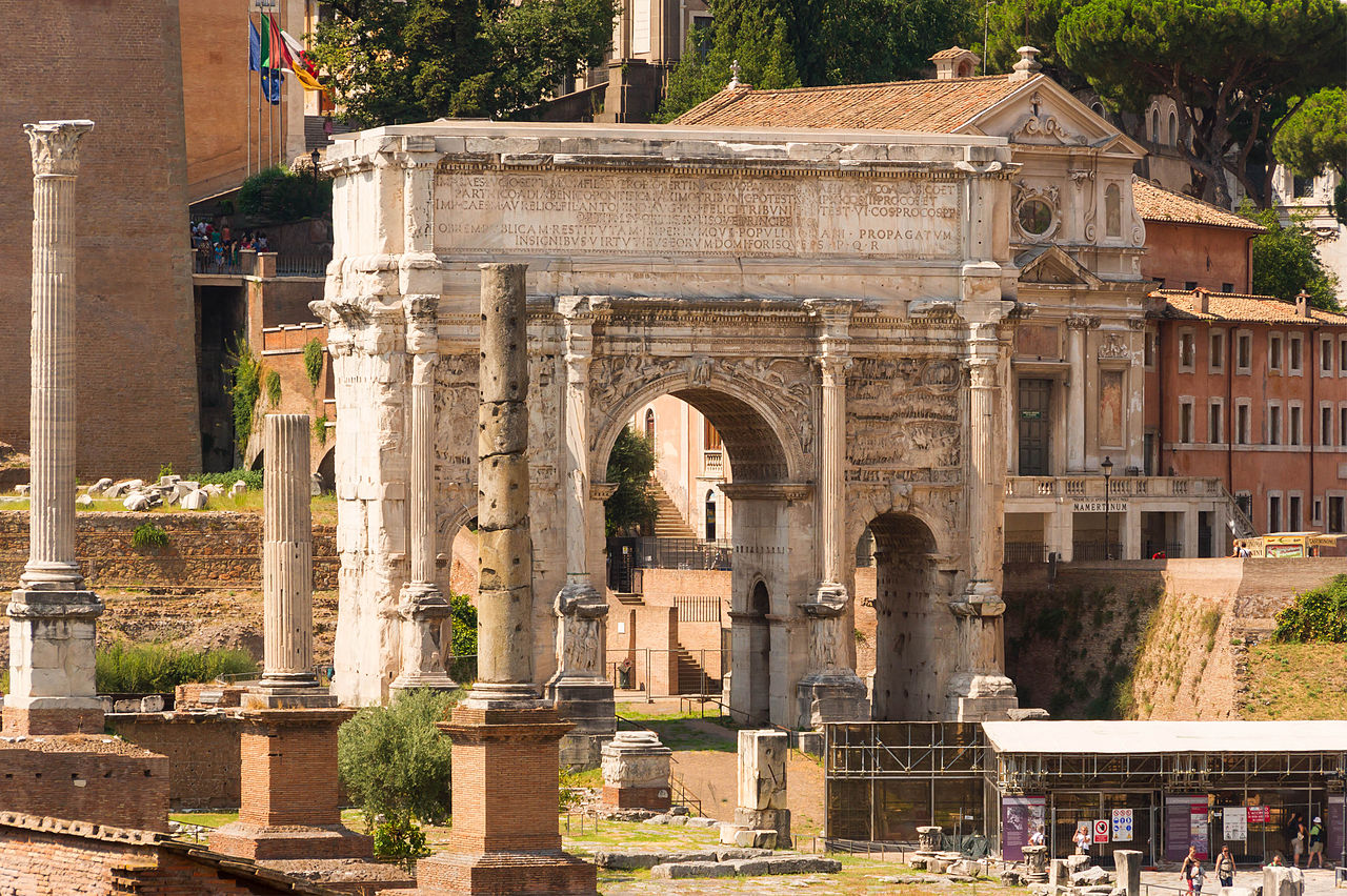 Arch of Septimius Severus Forum Romanum Rome 2.jpg