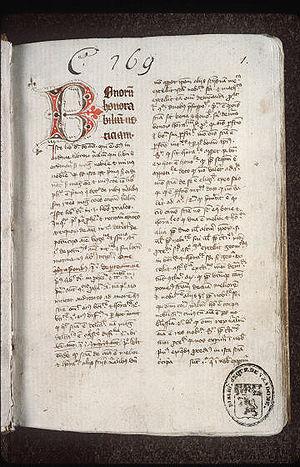 """Jean Buridan - """"Expositio et quaestiones"""" in Aristoteles De Anima by Johannes Buridanus, 1362?."""