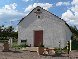 Arivaca, Arizona - Arivaca Schoolhouse in 2013.