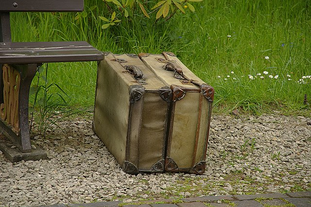 Old luggage at Arley railway station on the Severn Valley Railway