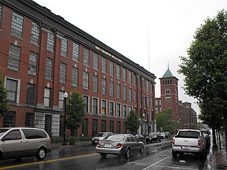National Register of Historic Places listings in Lawrence, Massachusetts - Image: Arlington Mills, Broadway, Lawrence, MA