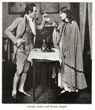 Jeanne Eagels - Eagels with George Arliss in Hamilton (c. 1917)