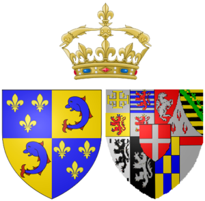 Marie Adélaïde of Savoy - Arms of Marie Adélaïde as Dauphine of France