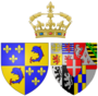 Arms of Marie Adélaïde of Savoy as Dauphine of France.png