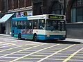 Arriva bus 1751 Dennis Dart MPD Plaxton Pointer W752 SBR in Newcastle 9 May 2009.jpg
