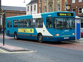 Arriva North East - East Lancs European bodied Scania L113CRL in Stockton-on-Tees in 2009