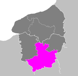 Location of Évreux in Haute-Normandie